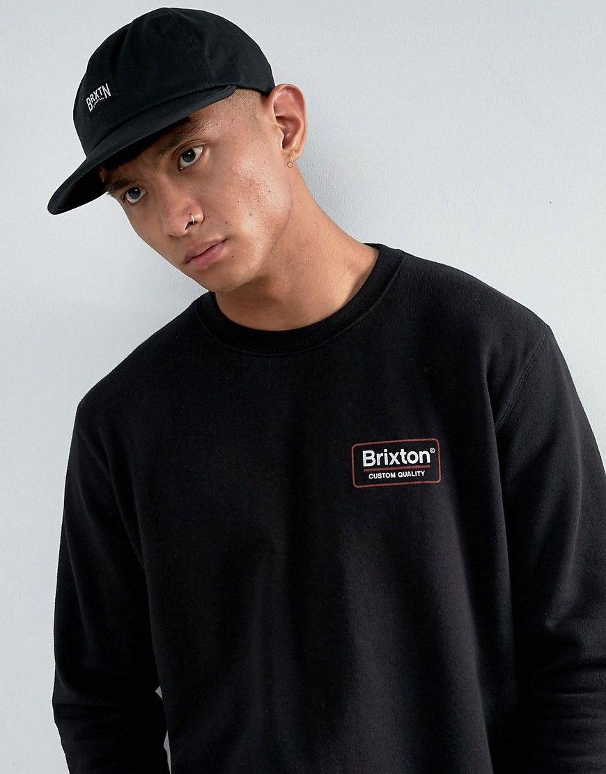 99c512c17dc BRIXTON LANGLEY CAP WITH ADJUSTABLE STRAP - BLACK.  brixton ...