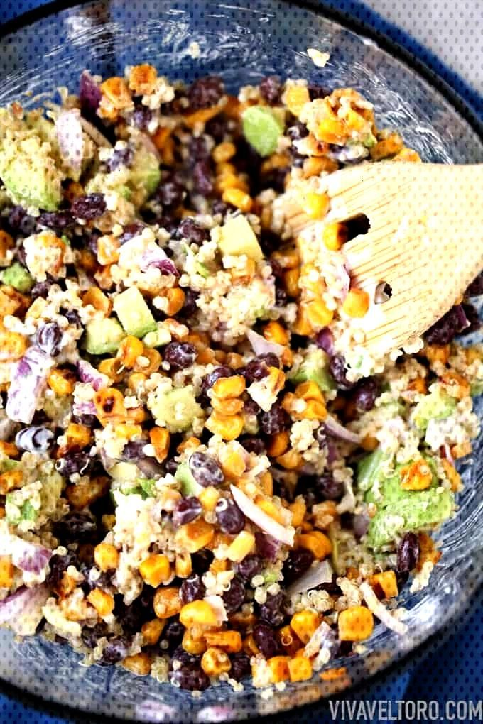 Black Bean and Quinoa Salad Recipe Vegetarian friendly black bean quinoa salad!