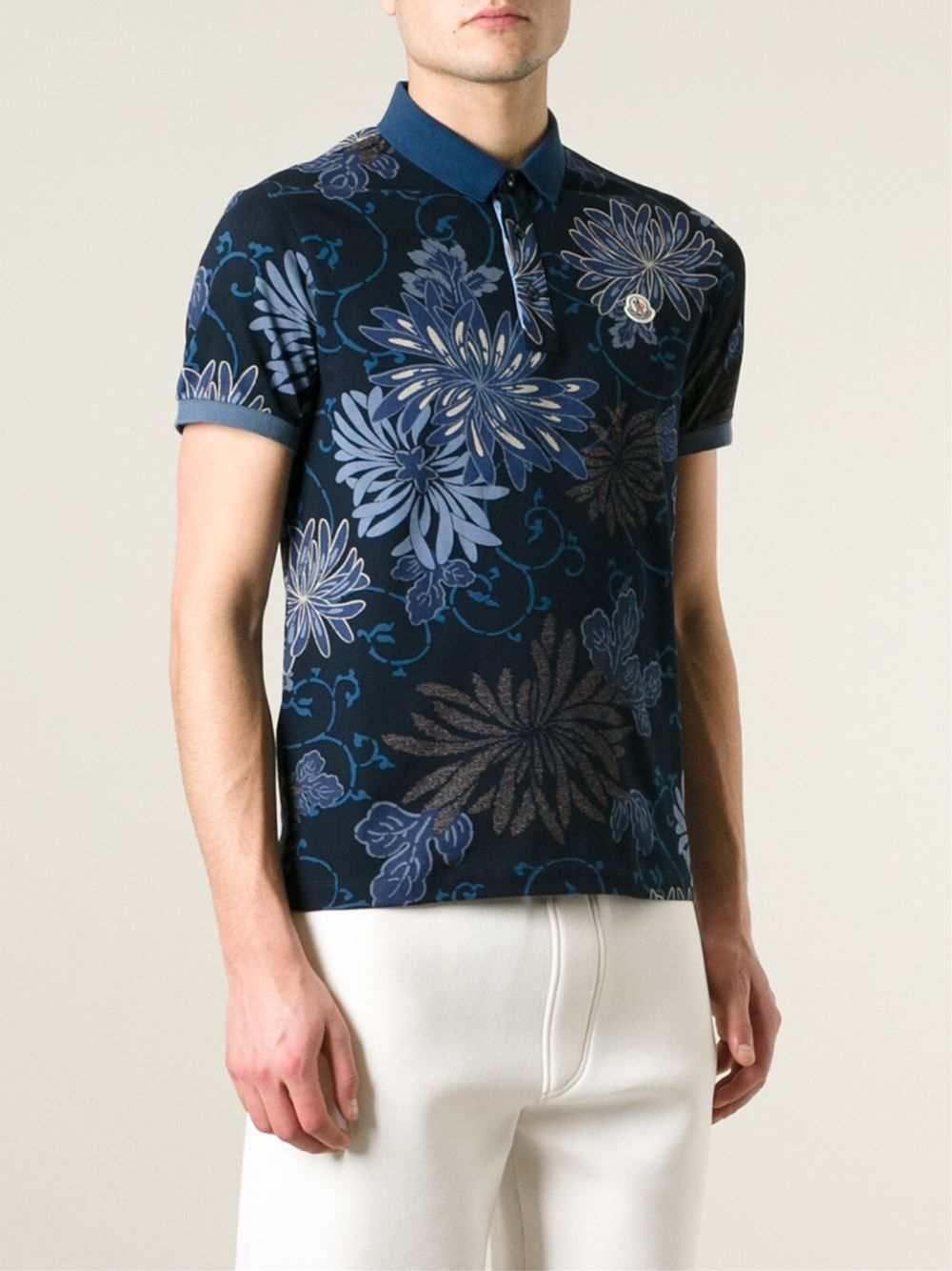 #moncler #mens #poloshirts #floralprints #blue #polo #shirts ##