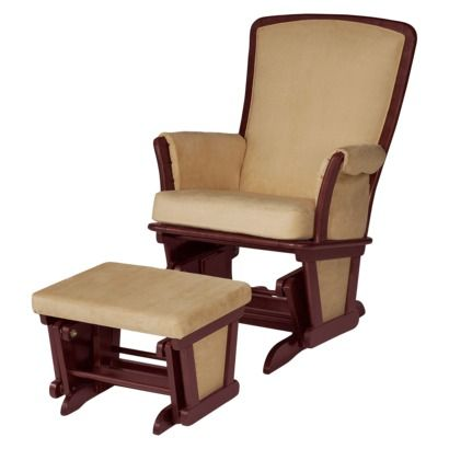 Delta Bentley Upholstered Glider And Ottoman Set