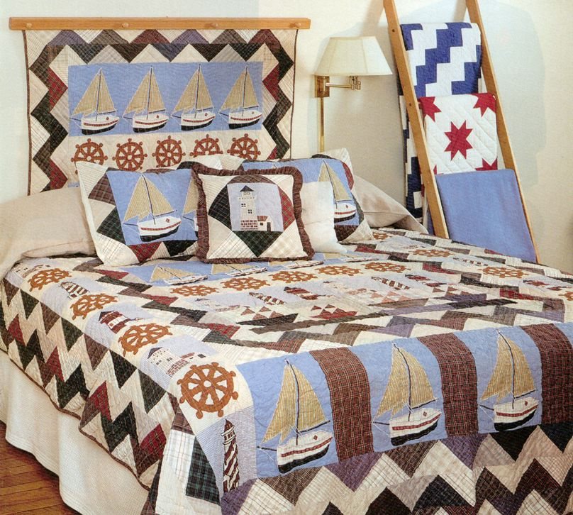 Nautical Quilts | Choices Quilts offers Nautical Quilts handmade for you! You can shop online or call us toll-free @ 1-800-572-2070 or 770-641-9700.