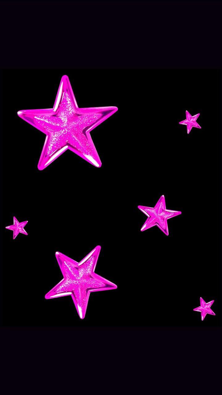 Black and Pink stars wallpaper Star wallpaper, Pink