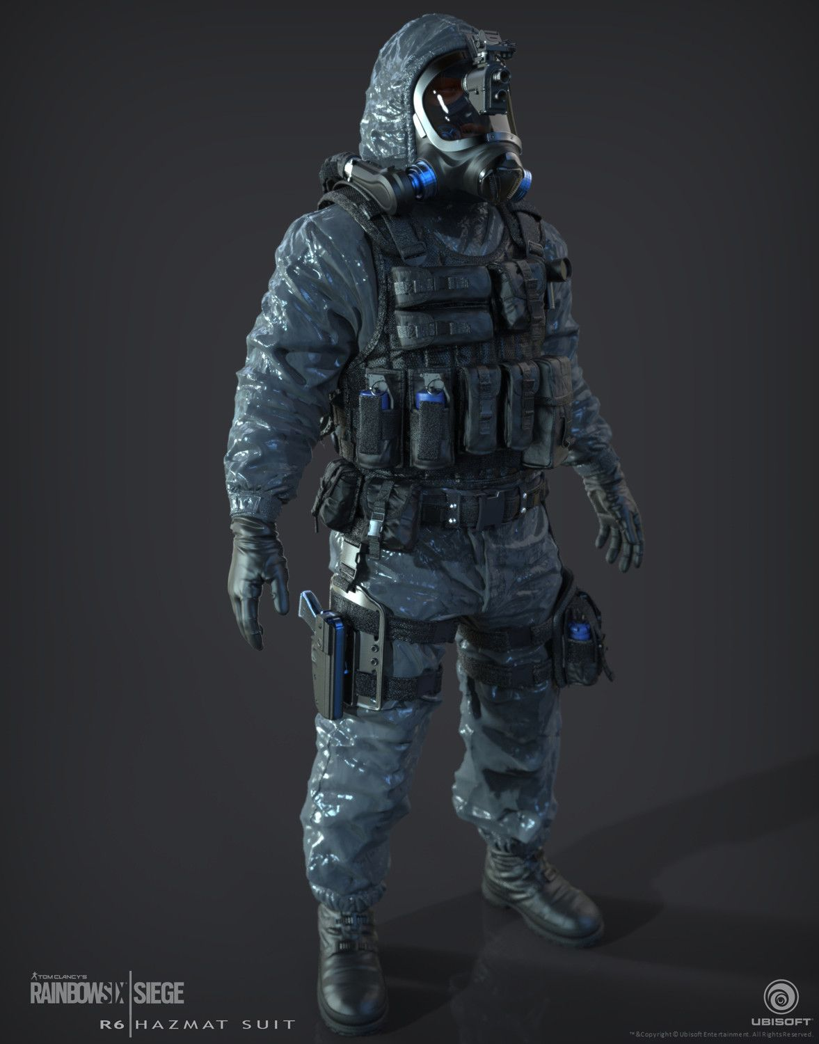 Hazmat Suit for Rainbow 6 | Siege. David Giraud helped out with some base assets.