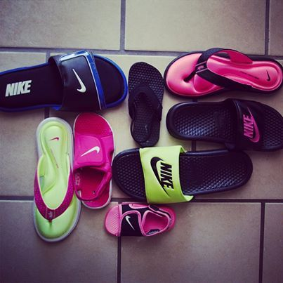 Some families just love to coordinate  #nike #sandals
