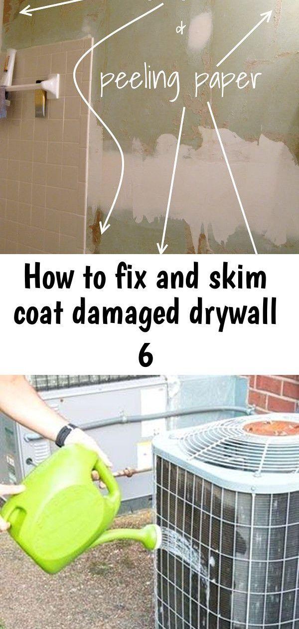 Coat damaged Drywall Fix skim An easy stepbystep