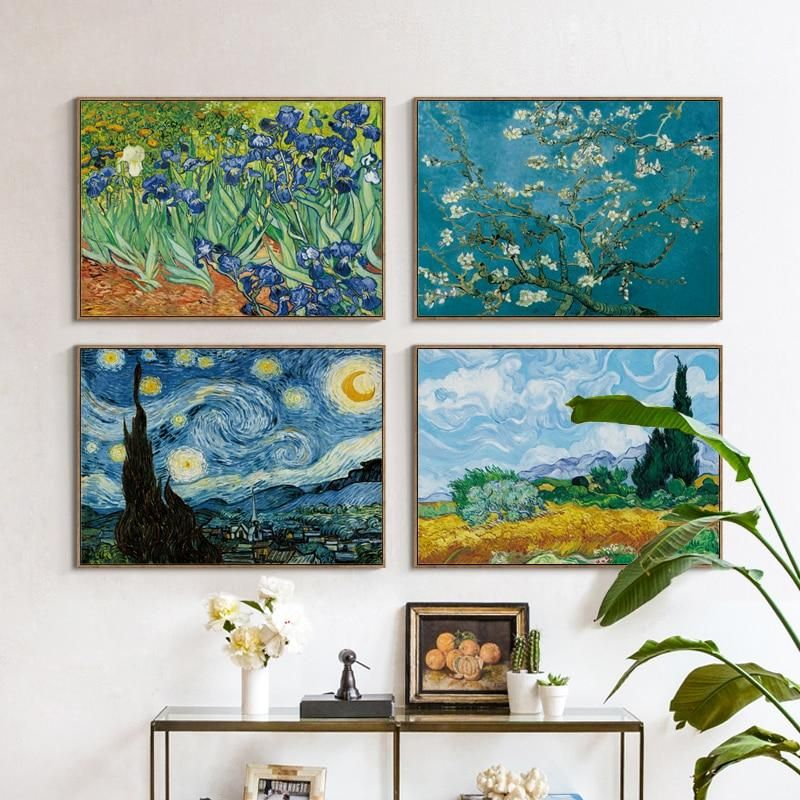 Van Gogh Starry Night Painting Art Poster Print A4 to A0 Framed