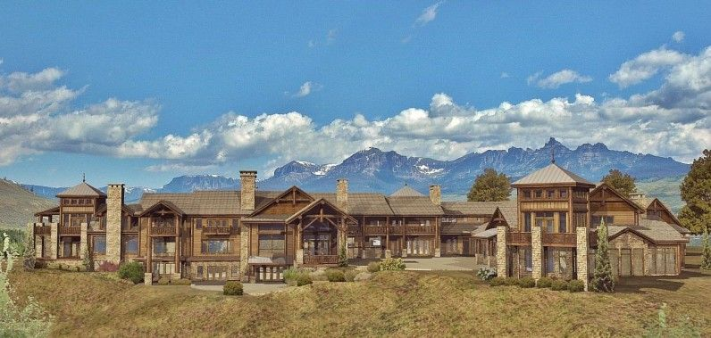 Grand teton estate log homes cabins and log home floor for Luxury timber frame house plans