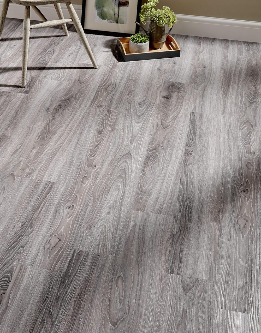 Florence Grey Oak Luxury Vinyl Tile Flooring (With