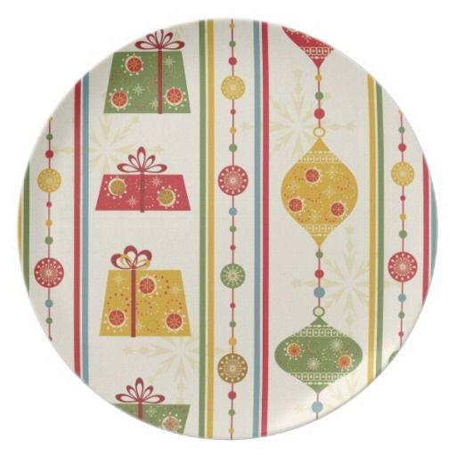 Holiday Theme Christmas Cookies Plates
