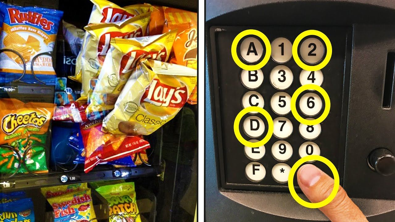 Free hack to get chips from any vending machine how to