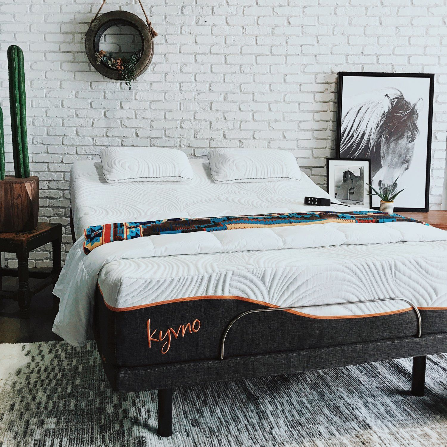 Modern bohemian bedroom with adjustable bed. Boho inspired ... on Modern Bohemian Bedroom Decor  id=87692
