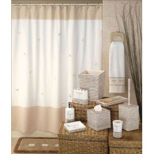 High Quality Dragonfly Flies Embroidered Shower Curtain Fabric