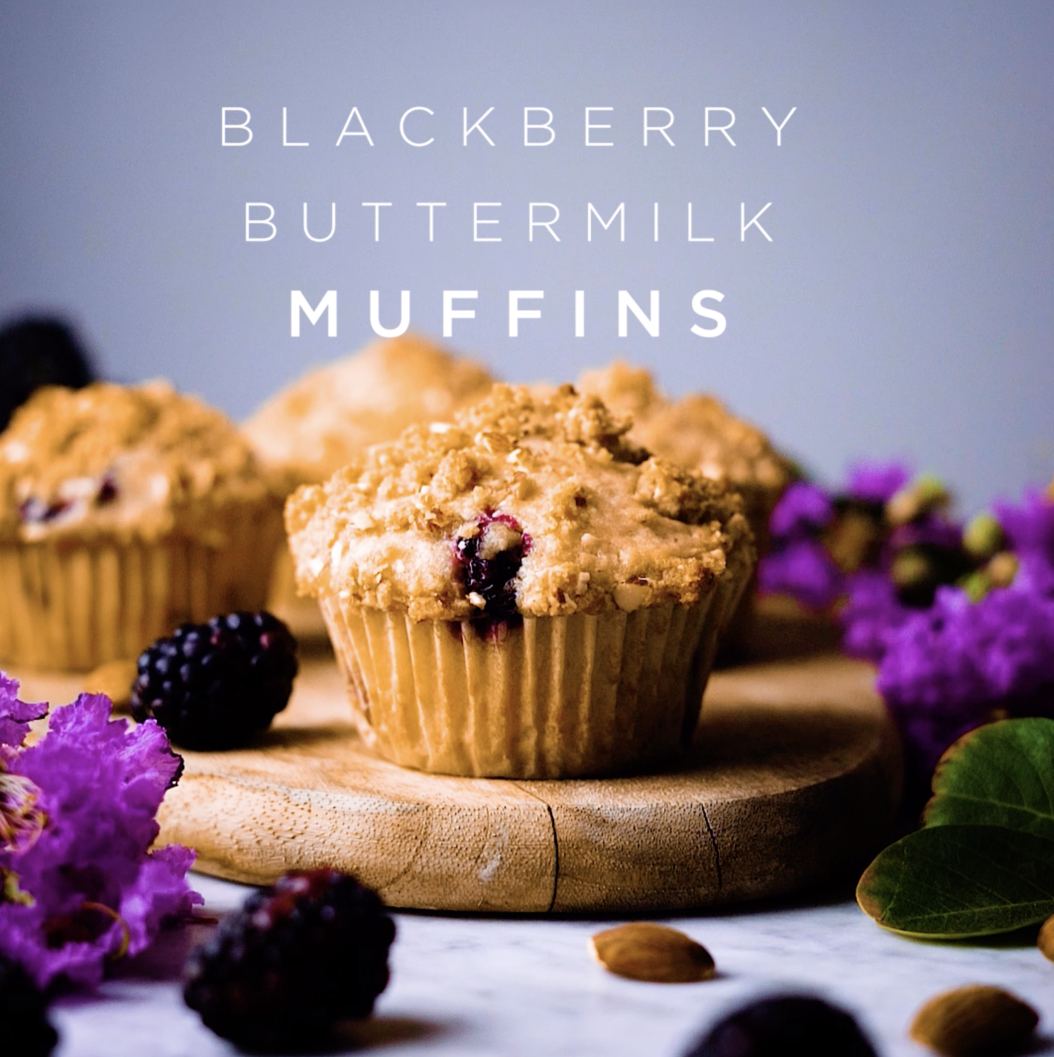 Blackberry Buttermilk Muffins The Broken Bread In 2020 Buttermilk Muffins Cinnamon Streusel Coffee Cake Streusel Topping For Muffins