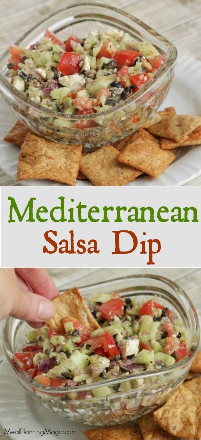 This Easy Fresh Mediterranean Salsa Dip Is Filled With Veggies And So Delicious Serve It With