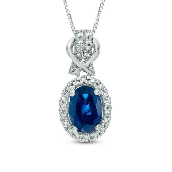Spring Adorewe Zales Zales Oval Blue Sapphire And 1