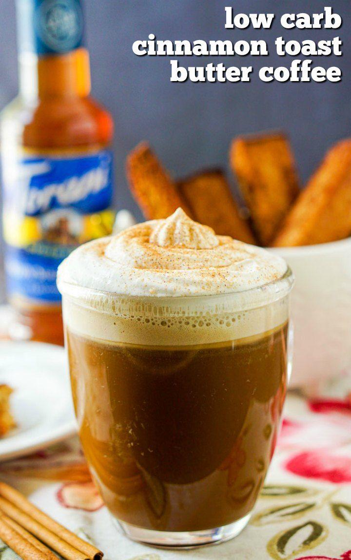 Keto Cinnamon Toast Butter Coffee Recipe - a sugar