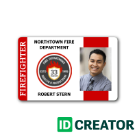 Firefighter Id Cards Quick Shipping 1 855 Make Ids Id Card Template Employee Id Card Cards