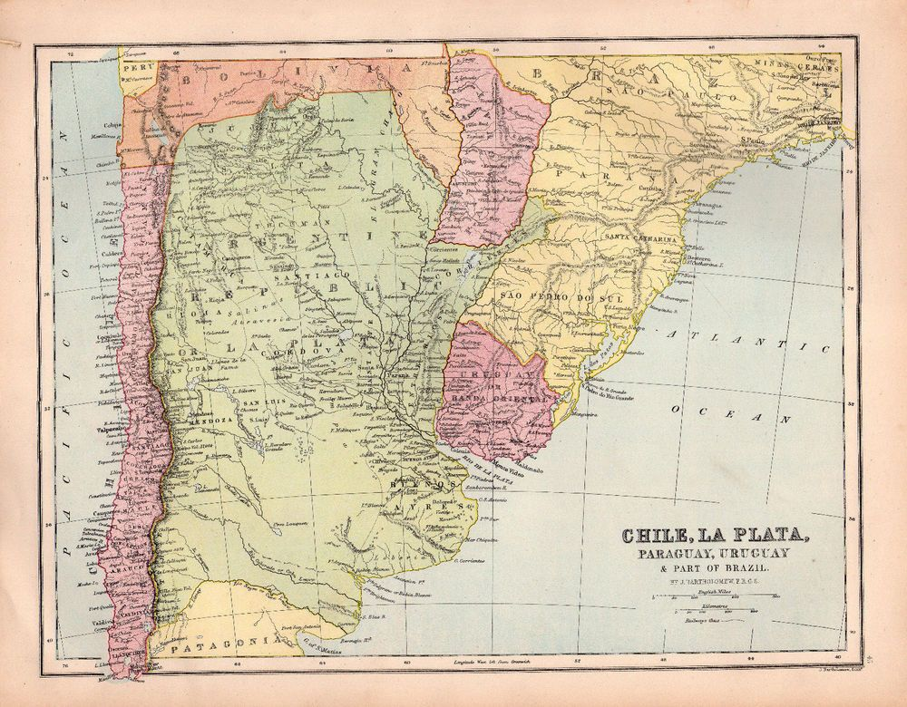 Map chile argentina south america original vintage brazil antique map chile argentina south america original vintage brazil antique uruguay 1880 gumiabroncs Images
