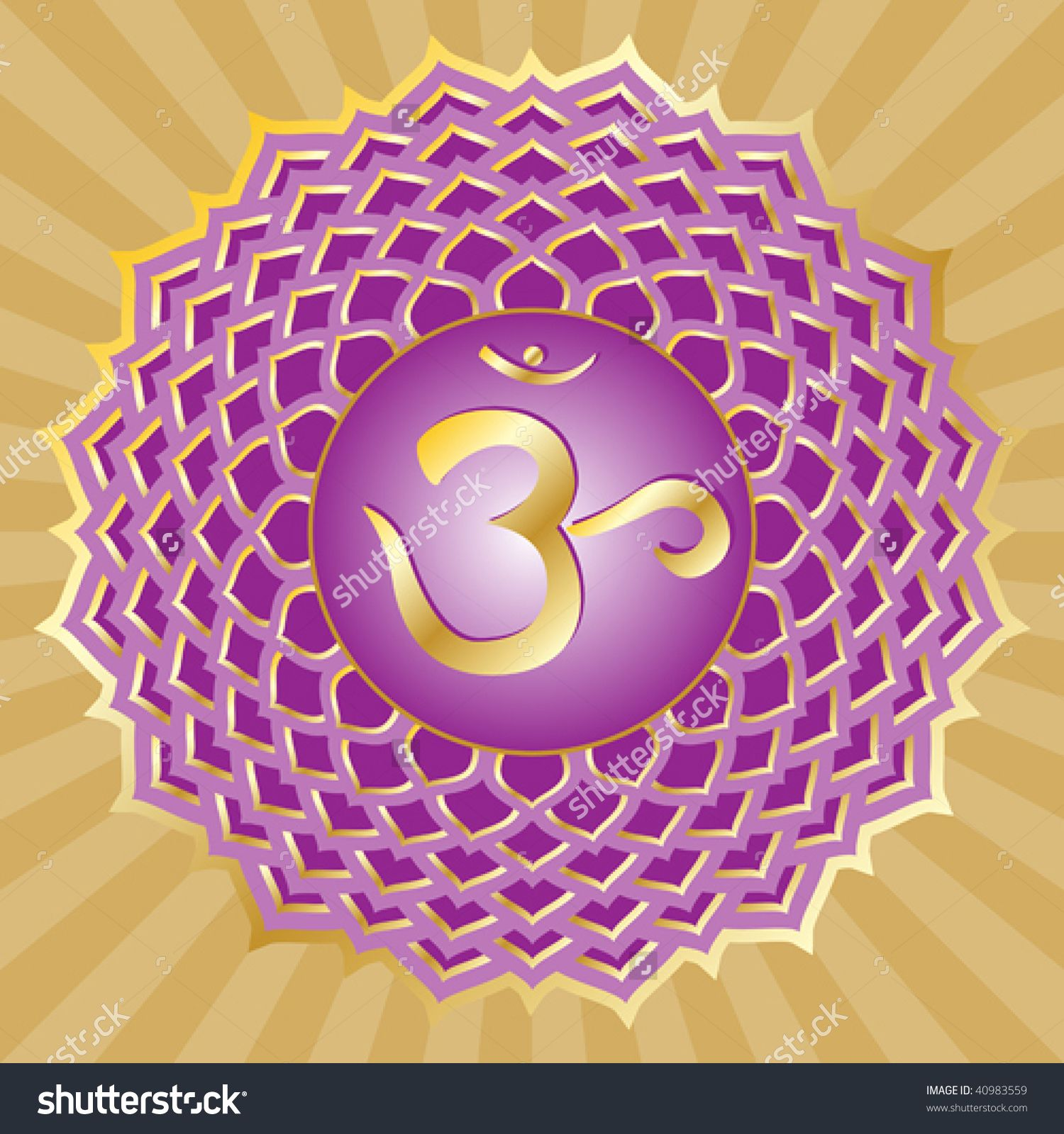 Crown chakra stock photos images pictures shutterstock chakra symbols buycottarizona Image collections