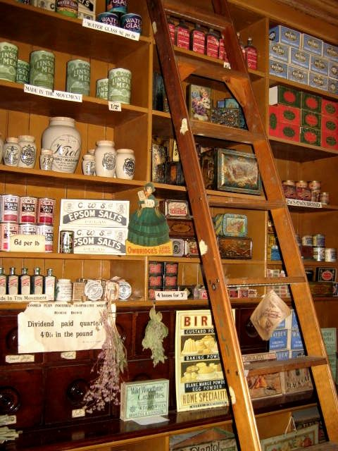 Victorian Co-op style shop - Beamish open air Museum.