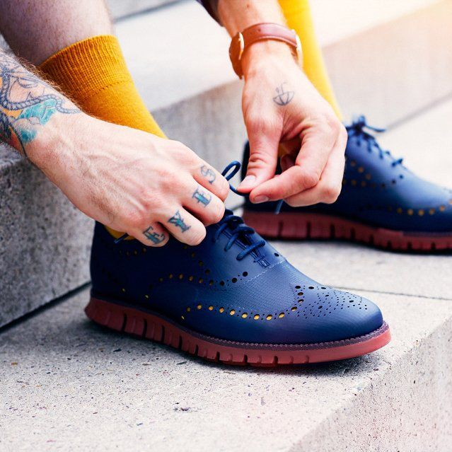 ZeroGrand No Stitch Blue Blazer by Cole Haan. Shoes MenShoes ...