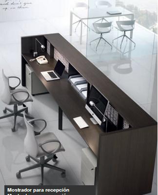 Modulos Para Oficinas Pequenas.Interior De Modulo De Recepcion Para Atencion Al Publico En Medellin