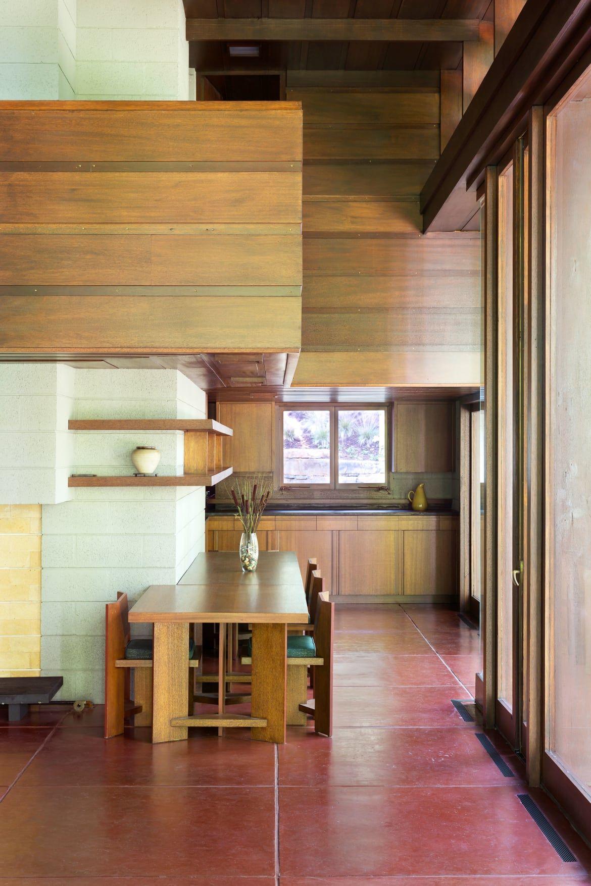 Frank Lloyd Wright. Bachman Wilson House. Usonian Style. 1954. Millstone  Borough