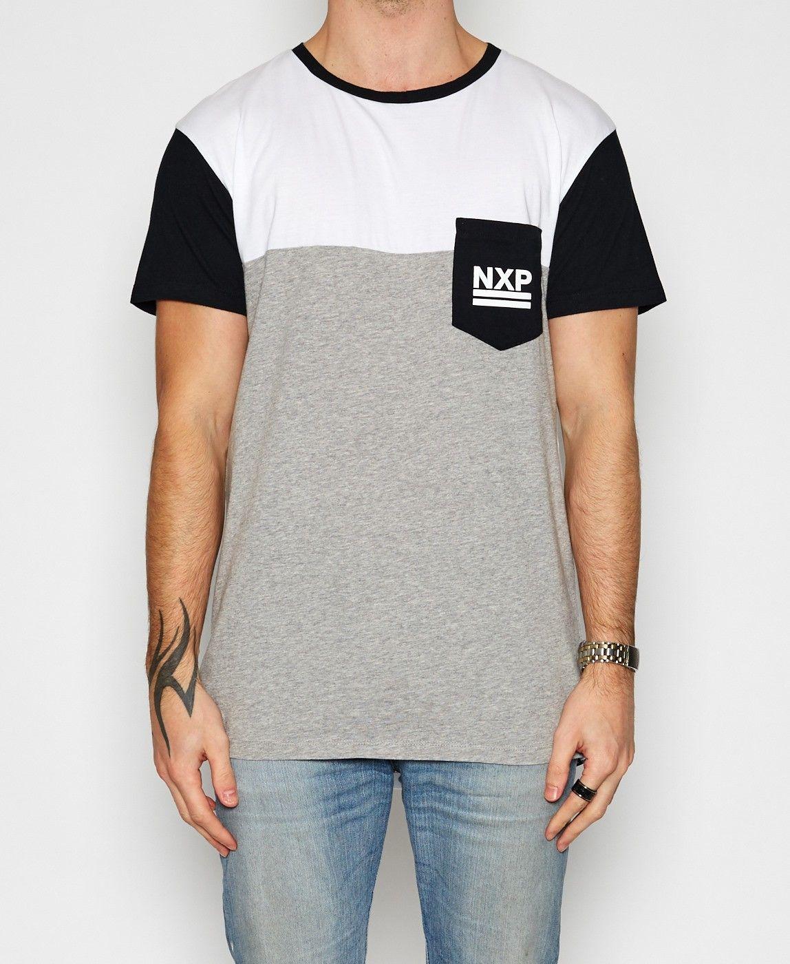 Nena & Pasadena / Interstellar Scoop Back T-Shirt White/Black T-Shirts Tops Men | Neverland Store