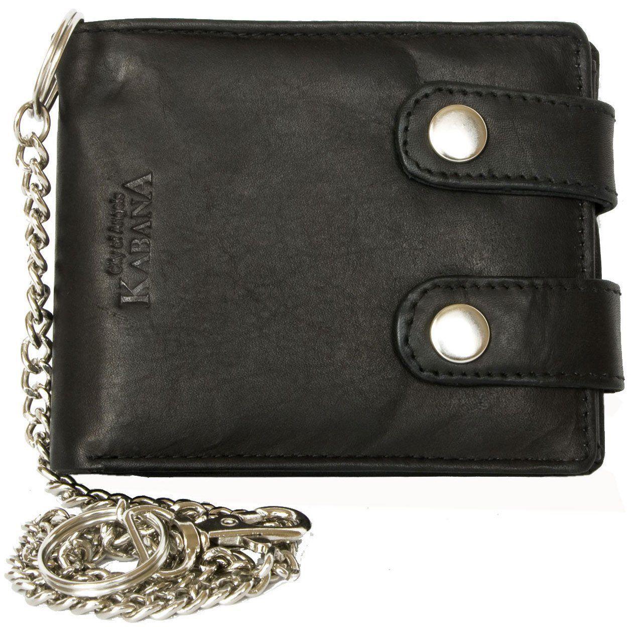 43d0387c5 Billetera negro estilo motero de cuero con cadena de metal | ropa ...