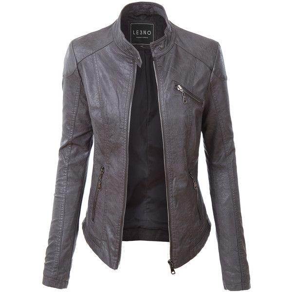 Most Amazing Womens Leather Jacket Blogdeb Com In 2020 Leather Look Jackets Leather Jackets Women Grey Leather Jacket
