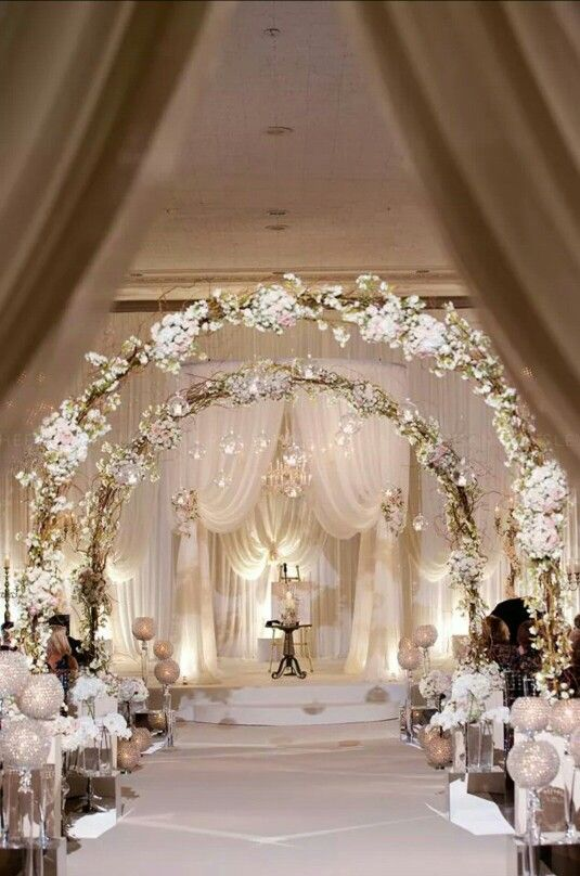 romantic winter wedding aisle decor ideas also weddings and rh pinterest