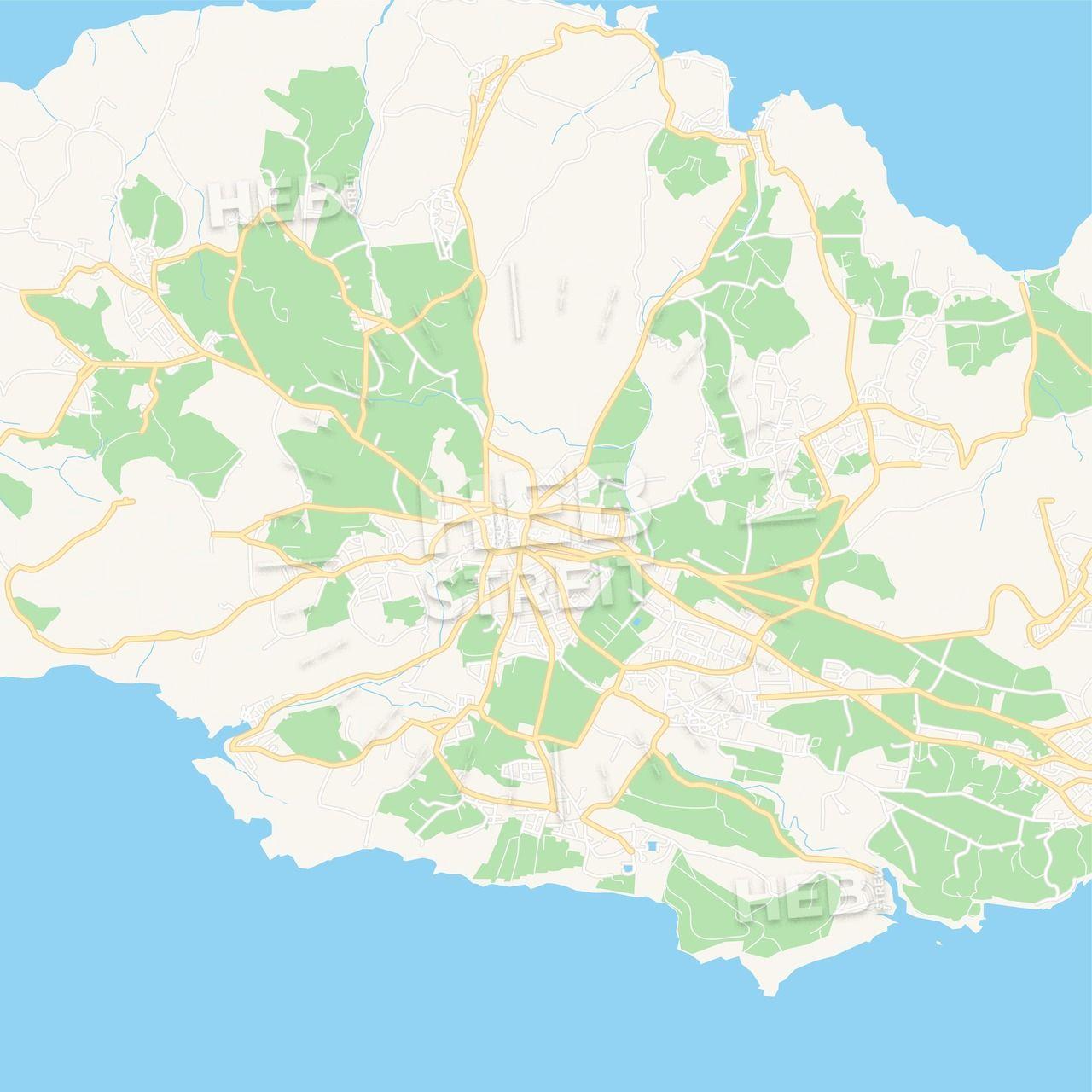 Rabat, Malta Vector Map - Classic Colors | Maps Vector Downloads