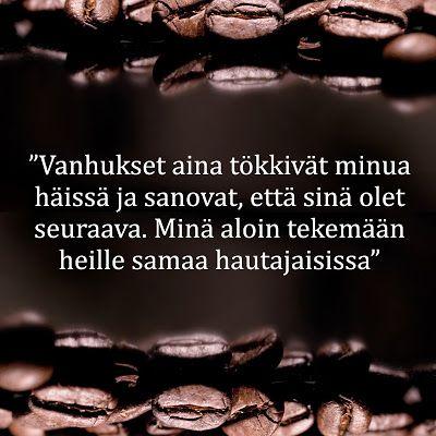 kahvilla kuultua