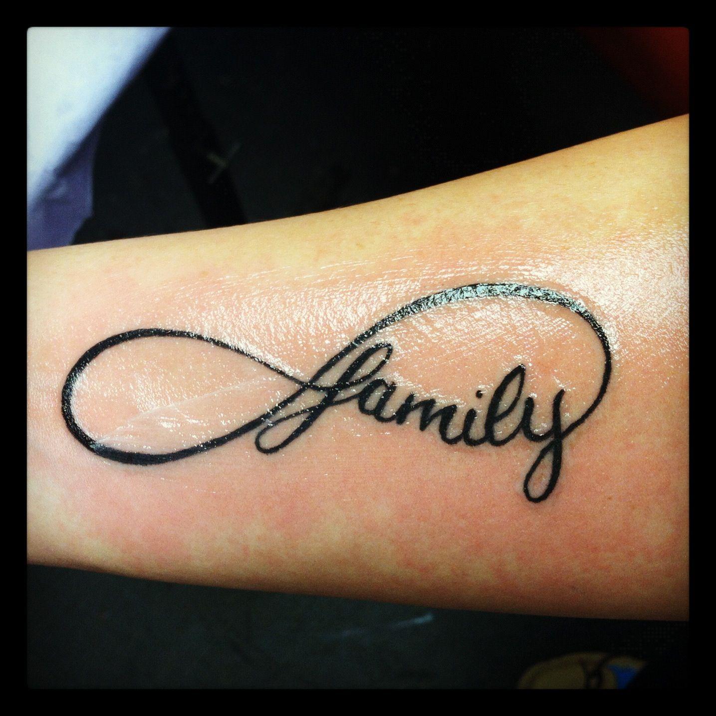 I Love My Family Tattoo