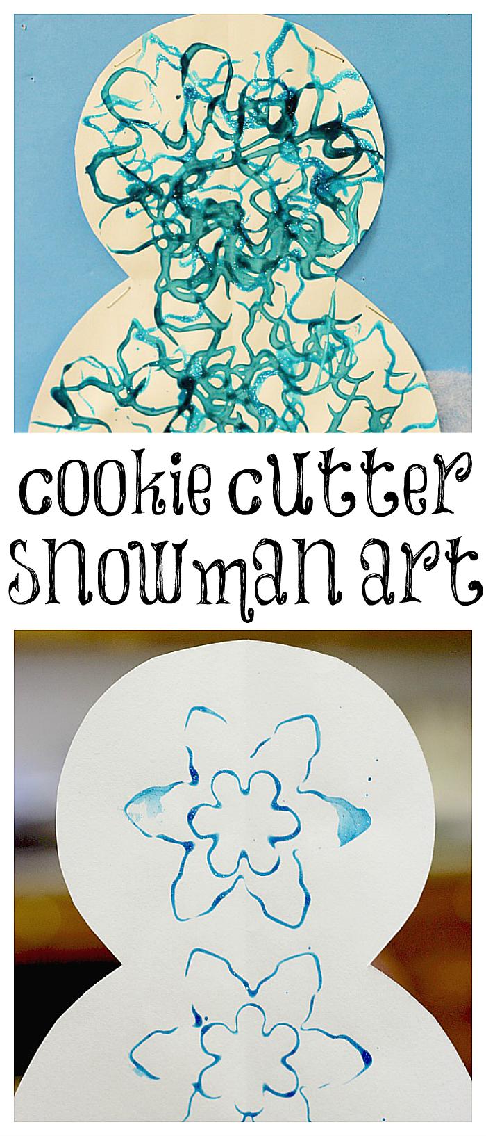 Super Simple Cookie Cutter Snowman Art Project For Kids