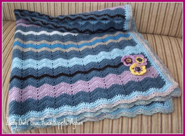 Zooty Owl\'s Crafty Blog: ripple crochet | MANTAS DE BEBE CROCHET ...