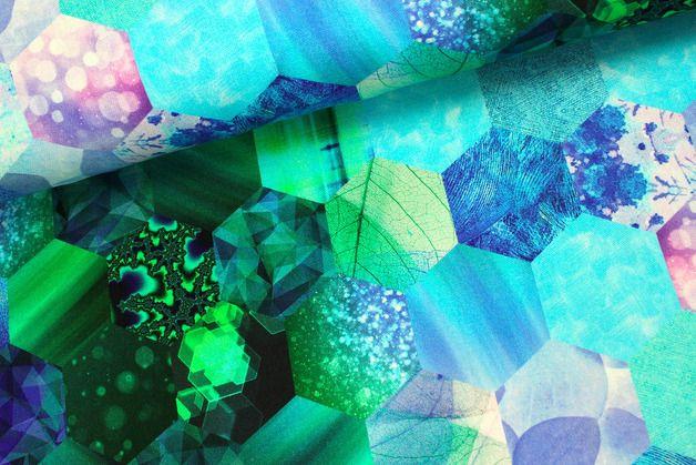 Weiteres - Panama Baumwolle - Wabenmuster - Crystalblue - ein Designerstück von alles-fuer-selbermacher bei DaWanda