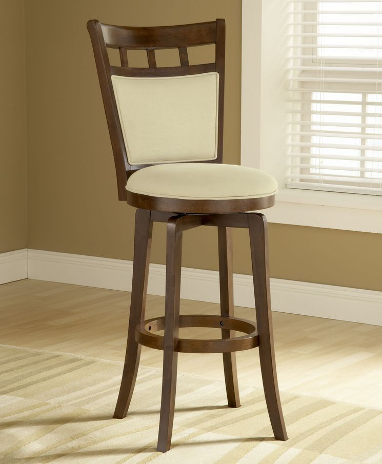 Jefferson 24 Quot Swivel Counter Stool With Cushion Back