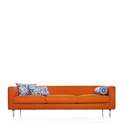 Moooi Delft Blue 3 Seat Sofa Toe Chrome Foot Cushion A B C
