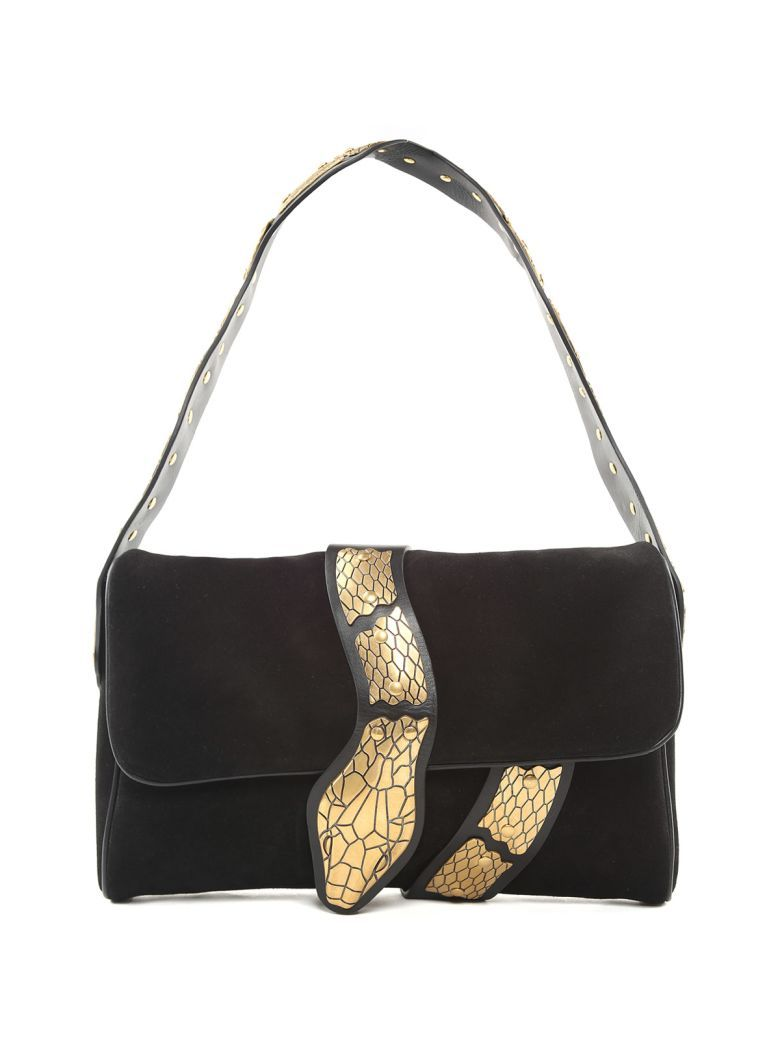 Black shoulder bag with golden snake Red Valentino Outlet Choice Clearance Pay With Visa Cheap Very Cheap Sale Brand New Unisex eKn9W9P