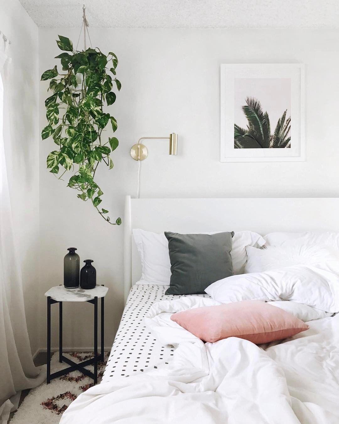 Planta colgante para dar calidez a un dormitorio for Mesillas de habitacion