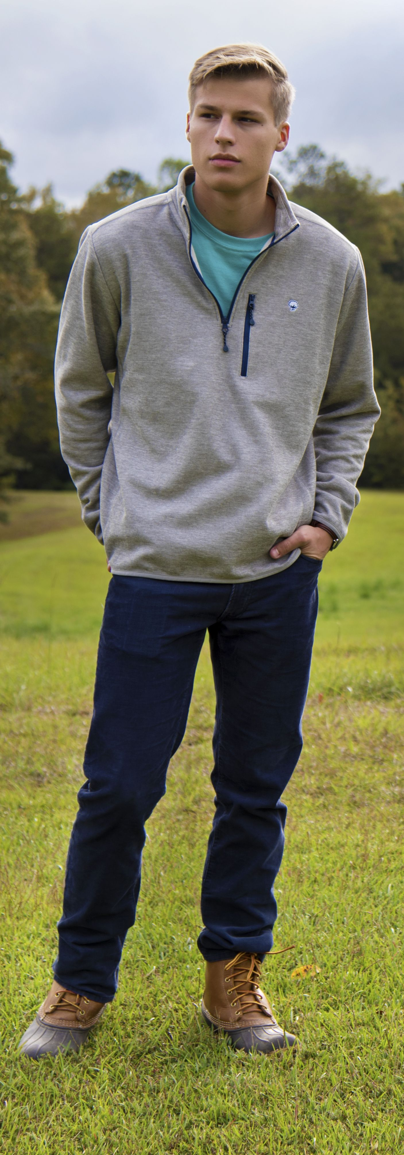 The Keeler Pullover from Southern Shirt, and a pair of L.L bean boots will  keep