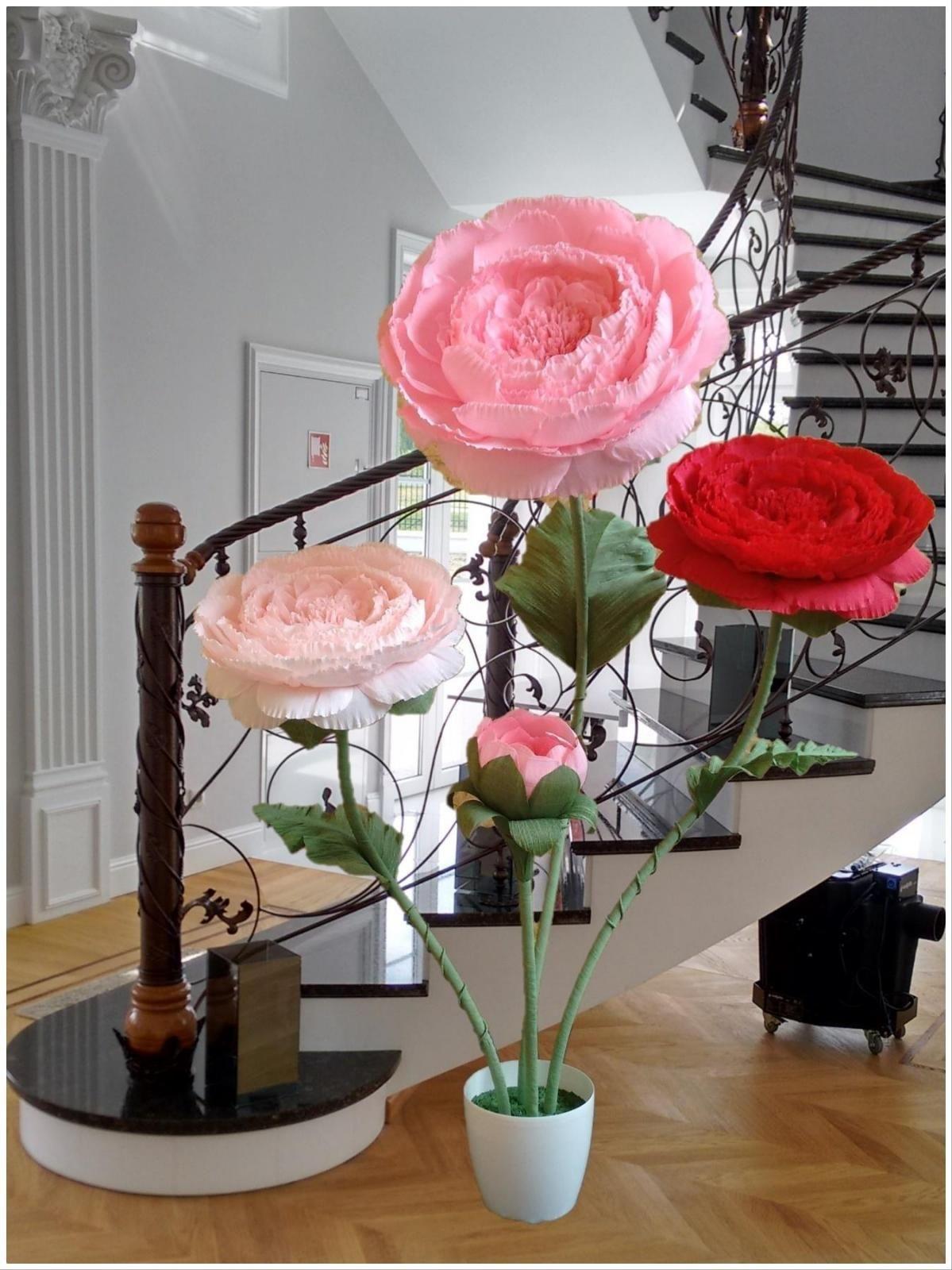 Giant Flowers Kwiaty Giganty Wielkie Kwiaty Crepe Flowers Giant Flowers Decor Display Flower Decorations