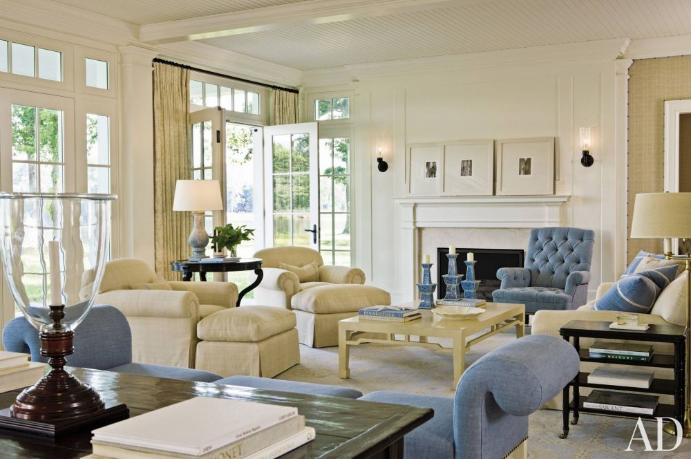 Traditional living room with soft blue and whites by - Beautiful traditional living rooms ...
