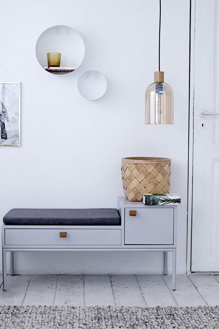 une suspension basse pour une entree cosy banc d entree avec rangement meuble banc