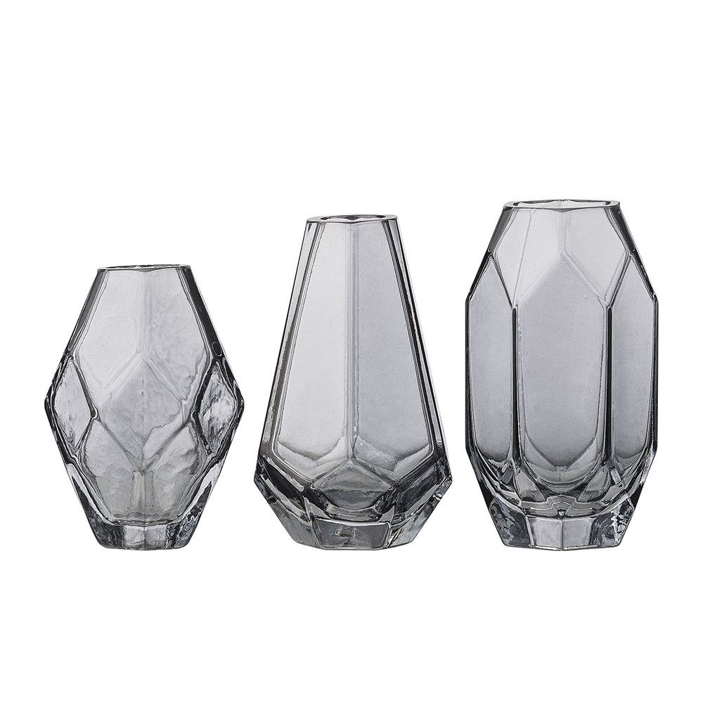 Bloomingville grey glass vases set of 3 ceramic pinterest bloomingville grey glass vases set of 3 floridaeventfo Image collections