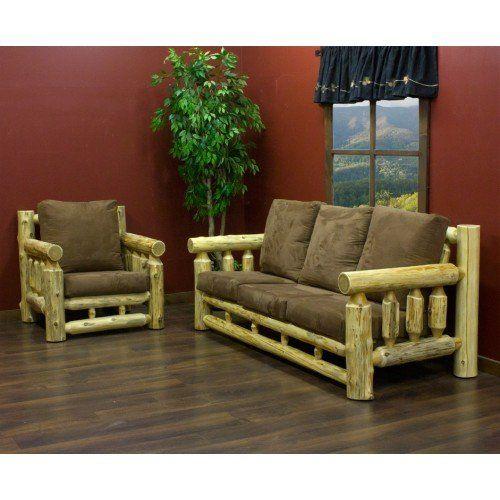 cedar lake cabin log sofa  rustic living room furniture