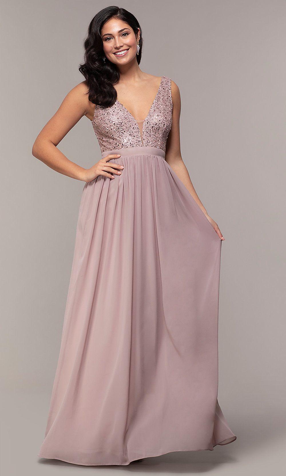 Long-Sleeve Black Sequin Homecoming Dress - PromGirl