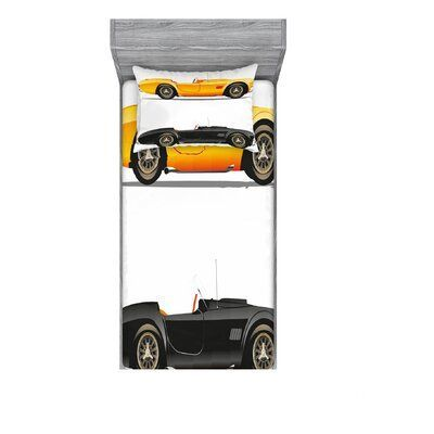 East Urban Home Retro Nostalgiker Autos Auto Motor Fahrzeug inspiriert Lifestyle Design Sheet Set  Products