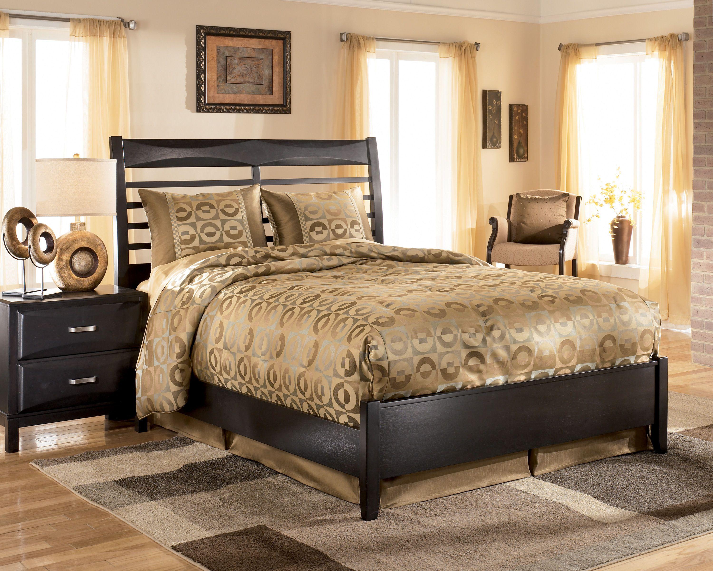 Kira Black King Panel Bed Ashley Bedroom Furniture Sets Ashley